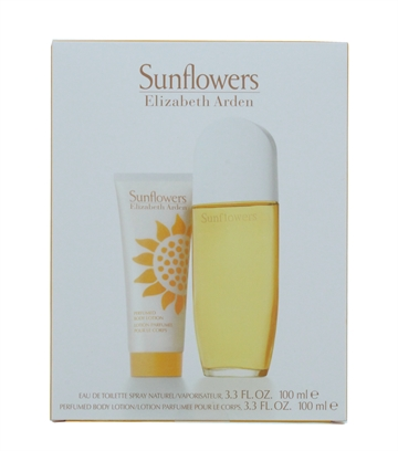 ELIZABETH ARDEN SUNFLOWER EDT 100ML & BODY LOTION 100ML