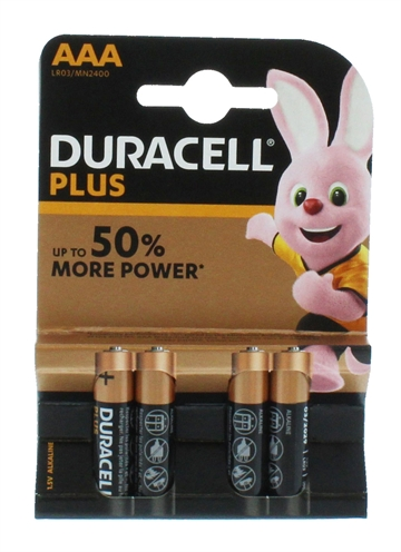 Duracell Aaa Plus Power 4'S