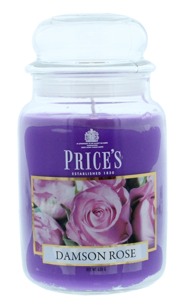 Price'S 630G Candle Large Damson Rose