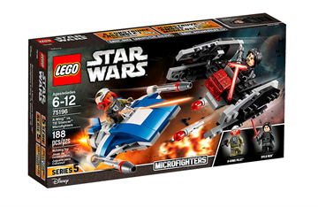 LEGO Star Wars 75196 A-wing mod TIE Silencer Microfighters
