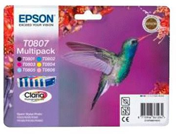 Epson T0807 C13T08074010 C/M/Y/K/PC/PM Multipack, 6 x 7 ml