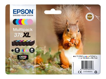 Epson 378XL C13T37984010 CMYKLCLM Multipack Bläckpatroner, 830 sider