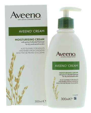 AVEENO 300ML MOISTURISING CREAM DRY & SENSITIVE SKIN