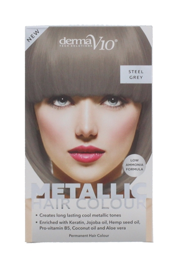 Derma V10 Metal Hair Colour Steel Grey