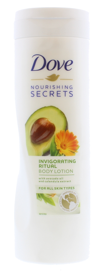 DOVE 400ML BODY LOTION INVIGORATING RITUAL AVOCADO OIL