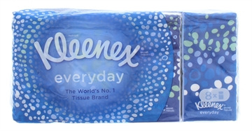 KLEENEX EVERYDAY POCKET TISSUES 8 PACK
