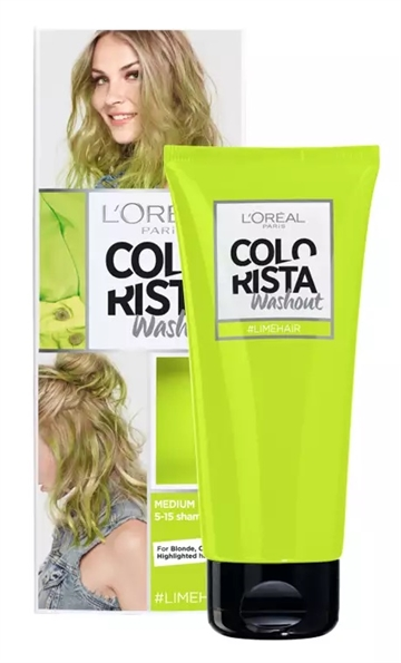 L'OREAL WASHOUT COLOR LIME 80ML