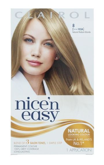 CLAIROL NICE'N EASY HAIR COLOR NAT BLONDE