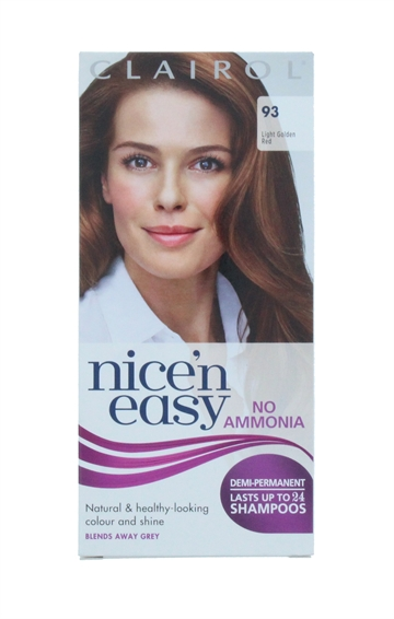 CLAIROL NICE'N EASY NO AMMONIA HAIR COLOR RED 93