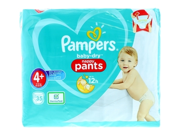 Pampers Baby Dry Nappy Pants Size 4+ 35'S