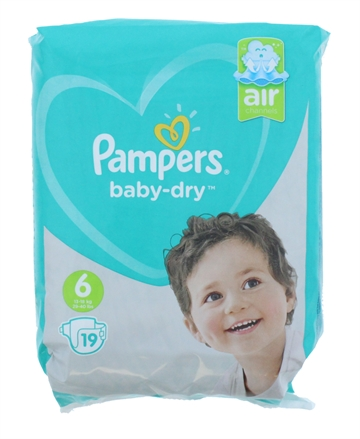 Pampers Nappies Baby Dry Size 6 19'S