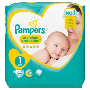 Pampers New Baby Nappies Size 1 22'S