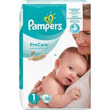 Pampers Procare Premium Protection Nappies Size 1 38'S