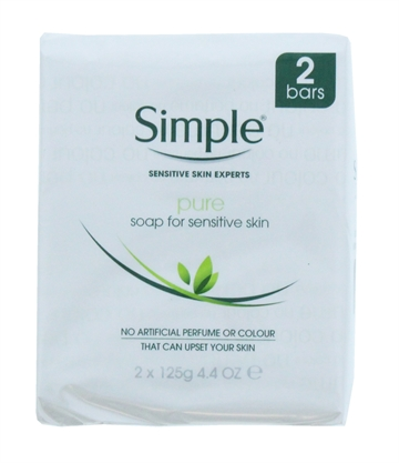 Simple 125G Pure Soap Sensitive Twin