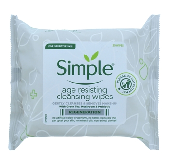 Simple Facial Wipes Age Resisting 25'S
