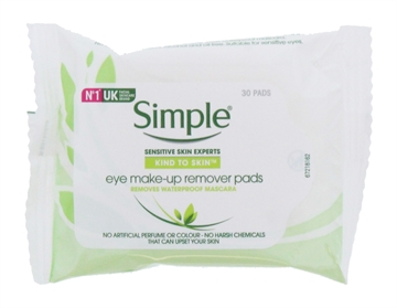 SIMPLE EYE MAKE UP REMOVER PADS 30'S
