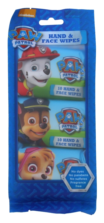 Paw Patrol Hand&Face Wipe 10'S 3Pack