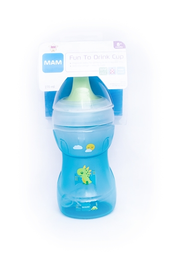 MAM Fun to drink cup blue 270ml 8+ måneder