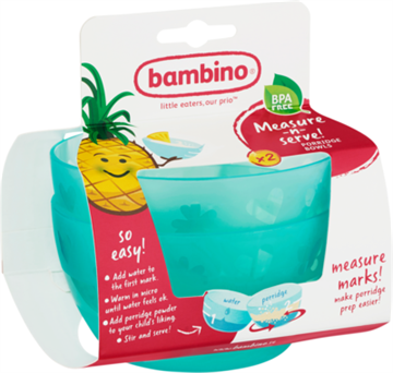 Bambino Measure-n-serve! PORRIDGE BOWLS Assorterede Farver