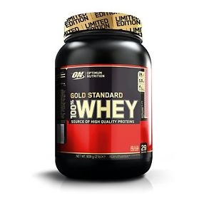 Optimum Nutrition 100 Whey Gold 899 g white choc & raspberry