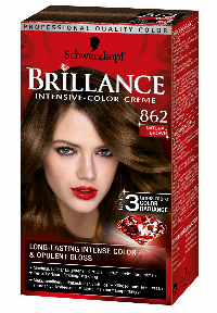 Schwarzkopf Brillance 862 Natural Brown hårfärg Brun