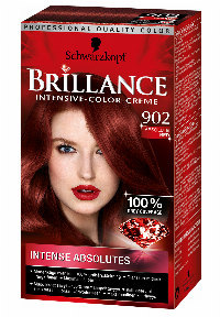 Schwarzkopf Brillance 902 Absolute Red hårfärg Röd