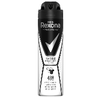 Rexona Men invisible on black+white clothes antiperspirant Män Spraydeodorant 150 ml